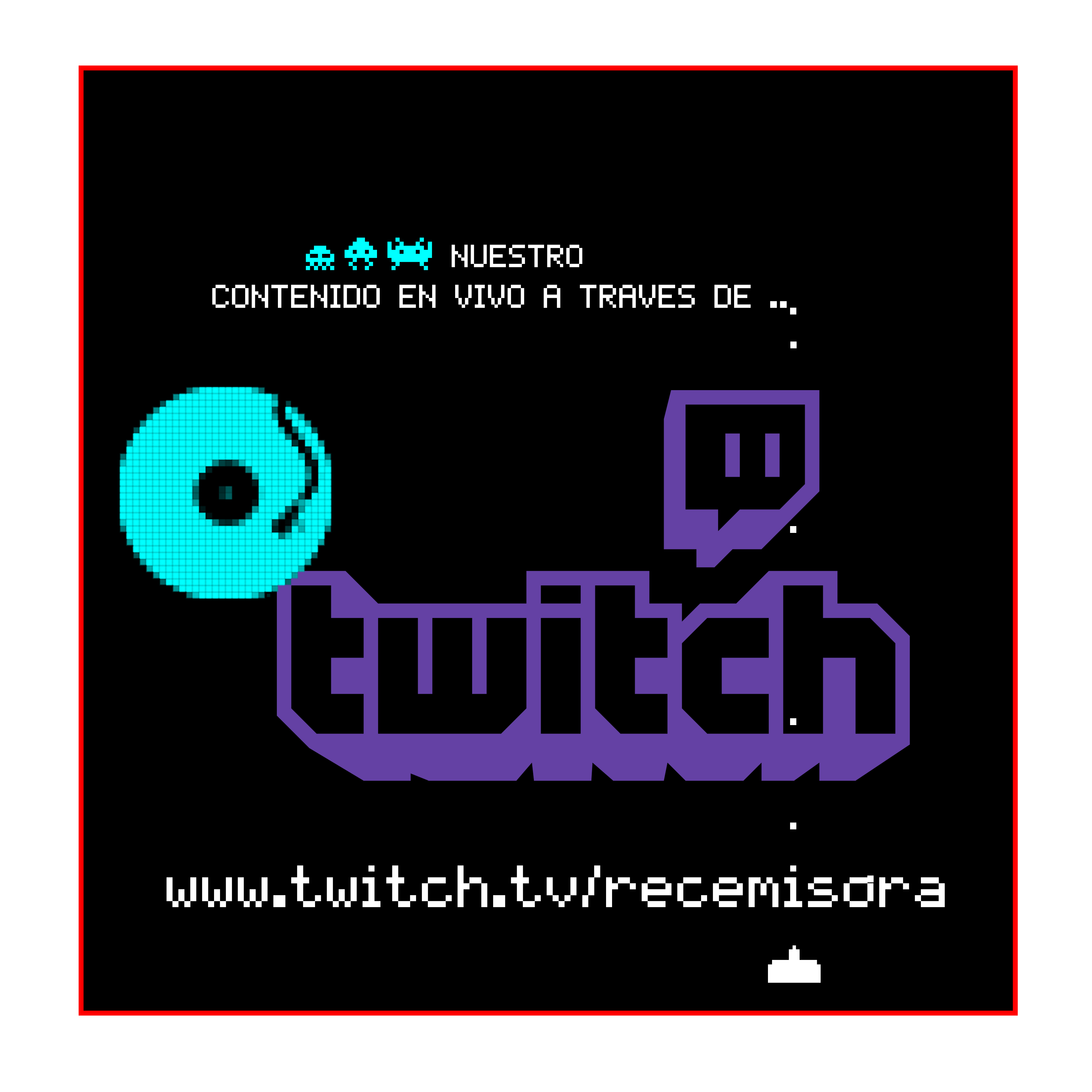 contenido en vivo twitch cuadrado